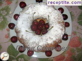 Sponge cake with cherries - II type