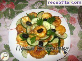 Appetizer of fried zucchini