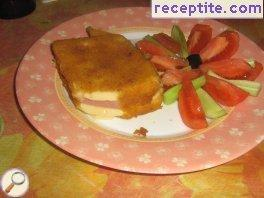 Cheese with ham Breaded