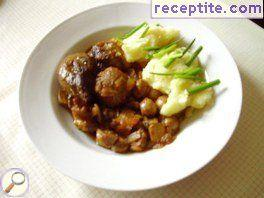 Mutton with mushrooms