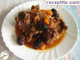 Venison with prunes