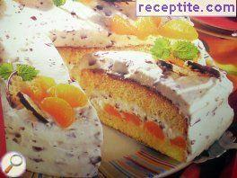 Layered cake with mandarin - II type