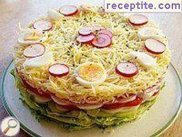 Salad layered cake