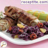 Pork fillet with red cabbage