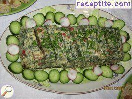 Terrine of spinach