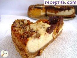 Cheesecake with pumpkin and chocolate
