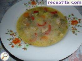 Chicken soup with onion
