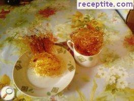 Creme Brulee with sugar decoration