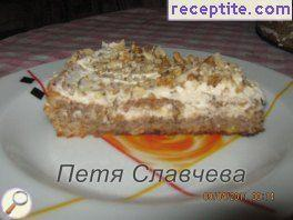 Serbian walnut layered cake