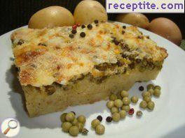 Potatoes with peas Oven