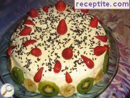 Home layered cake of kozunak