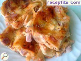 Lasagna with Bechamel and ham