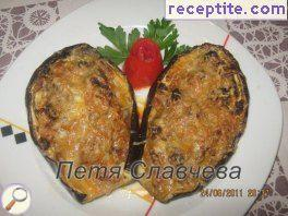 Eggplant with mince and cheese