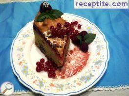 Cake with currant glaze tseluvchena