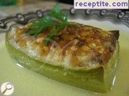 Stuffed zucchini with couscous and minced meat