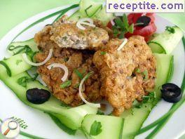 Cutlets of chicken and oatmeal
