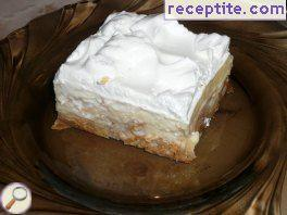 Cream cake with peel