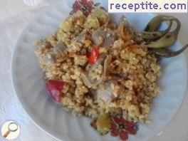 Gizzards with bulgur