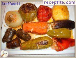 Stuffed vegetables with rice