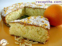 Orange-lemon cake with almonds and olive oil