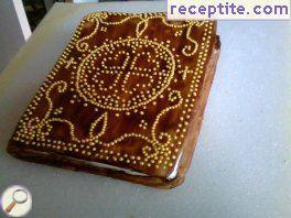 Book decoration layered cake