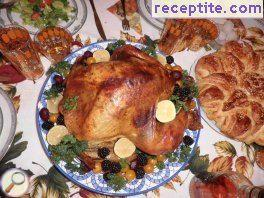 Festive stuffed turkey