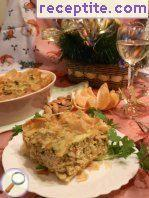 Quiche Lorraine with bulgur and ready peel