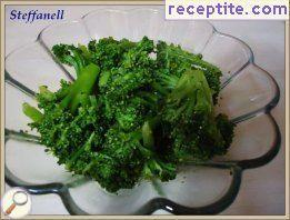 Salad of cooked broccoli
