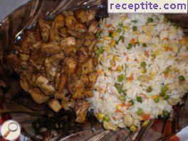 Rice with vegetables and meat Chinese