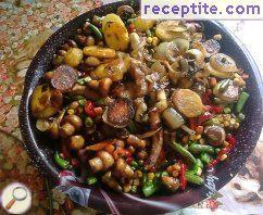 Sach - vegetables with mushrooms and three kinds of meat