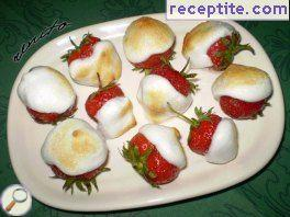 Strawberries with icing