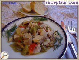 Chicken breast with mushrooms and peppers
