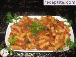 Macaroni with zelenchuchi