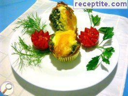 Eggs baked in muffin shapes (M * oeufins)
