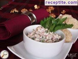 Spicy dip with walnuts