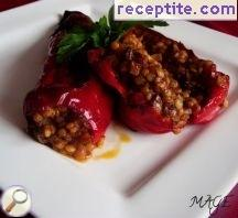 Stuffed peppers with couscous and vegetables