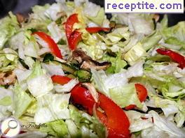 Green salad with roasted vegetables