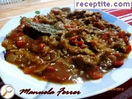 Stewed beef liver with red wine
