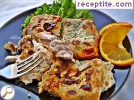 Carp baked with orange juice and cream