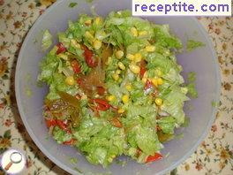 Iceberg Salad with roasted peppers