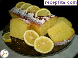Fragrant lemon sponge cake