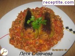 Stuffed peppers with Ropotamo mince and rice