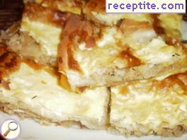 Banitsa with chicken and onion
