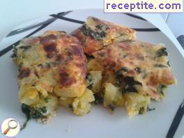Moussaka with spinach and potatoes