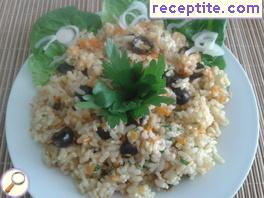 Rice with olives oven