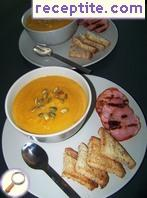 Cream of pumpkin soup with bacon
