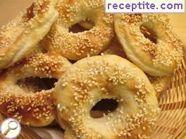 Cooked sesame bagels