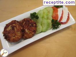 Meatballs canned salmon