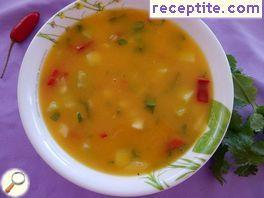 Gazpacho with mango