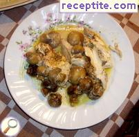 Gyuvetch with chicken and mushrooms